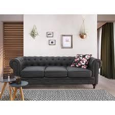 canape en anglais canapé anglais classique en couleur gris chesterfield ce canapé