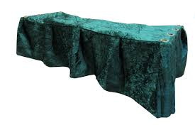 Green Crushed Velvet Church Truck Drape - Medical Stretchers ...