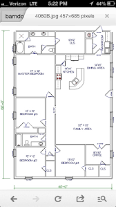 40x60 Shop House Floor Plans by Barn House Workable Floor Plan Add Huge Garage Shop To End