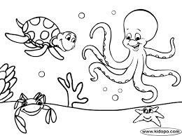 Great Sea Life Coloring Pages 98 With Additional Free Kids