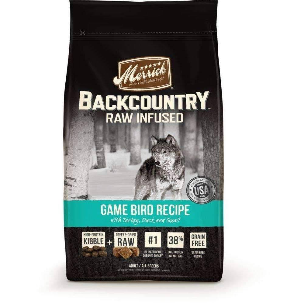 Merrick Backcountry Raw Infused Dog Food - Game Bird With Turkey Duck And Quail
