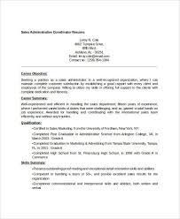 Sales Administrative Coordinator Resume1