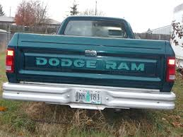 1993 Green Dodge Pickup Truck