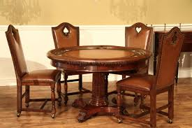 Captains Chairs Dining Room by Leather Game Chairs With Brass Nails