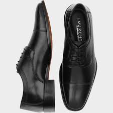 J Murphy By Johnston Novick Black Cap Toe Lace Up Shoes