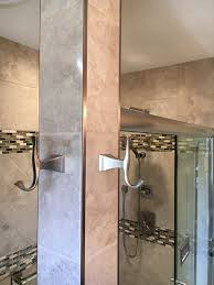 Schluter Tile Trim Uk by Stainless Steel Bathroom Accents With Metal Schluter Strips To