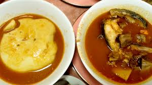 What I Saw Many Customers Order During My First Trip Was The Widely Eaten West African Dish Fufu Name Refers To Cassava And Plantain Roots Pounded