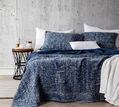Stone Washed Cotton Quilt Nightfall Navy Oversized King XL