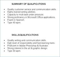 Skills Summary Resume Examples Ability Of Resumes Teacher