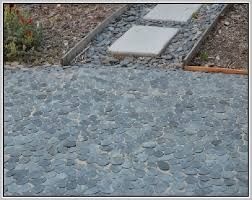 sliced pebble tile home design ideas