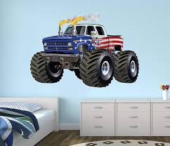 100 Monster Truck Bedroom Amazoncom Flag Wall Decal Nursery Art Kids
