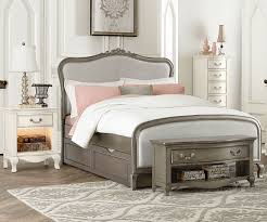 kensington silver finish katherine full size bed with trundle