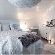 Perfect Attic White Bedroom With Fairy Lights
