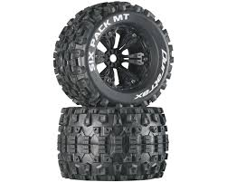 100 Truck Tired DuraTrax Six Pack MT 38 PreMounted Tires Black 2 12