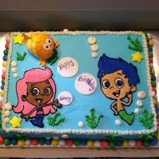 Bubble Guppies Cake Decorations by Bubble Guppies Cake Characters Are An Icing Transfer Mr Grouper Is