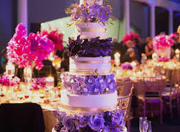 Purple Gold Wedding Lovely Cake Ideas Nontraditional Decorations And