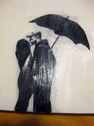 DIY Rainy Day Crayon Canvas Art Alternative Melting Method
