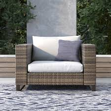 Tommy Hilfiger Oceanside Outdoor Wicker Patio Chair With Cushions ... Shop Costway 4 Pieces Patio Fniture Wicker Rattan Sofa Set Garden Tub Chair Chairs Increase Beautiful Design To Your House Rattan Modern Shell Retro Design Outdoor Ding Asmara Oliver Bonas New Black Poly Spa Surround Hot Chic Tropical Cheap Find Deals On Line At Round Fan Lily Loves Shopping Gray Adrie By World Market Products Sets