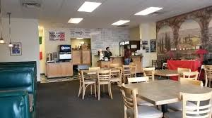 clean interior carpet and ceiling tiles booths seat