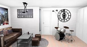 papier peint chambre ado gar n rideau chambre ado