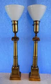 Stiffel Floor Lamp Vintage by Vintage Granitex Tall Zephyre Table Lamps Boy Cherub Base Lamp