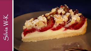 zwetschgenkuchen mit pudding pflaumenkuchen mit pudding und streusel