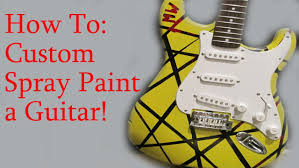 How To Spray Paint A Guitar