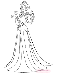 Princess Aurora Coloring Pages Sleeping Beauty 3 Disney Book To Print