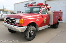 100 Ford Fire Truck 1990 F350 Fire Truck Item DC3747 SOLD December 5 G