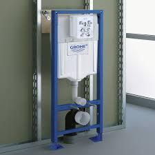 grohe 38340001 bâti support pour wc suspendu mur porteur ou