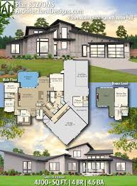 100 2 Story House With Pool Plan 8570MS Modern Home Plan With Indoor