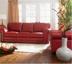Red Sofa Living Room Ideas by Top Red Leather Couch Living Room Ideas 19 Remodel With Red