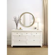 Sauder Shoal Creek Dresser Soft White Finish by Cottage Dressers Bedroom Furniture The Home Depot