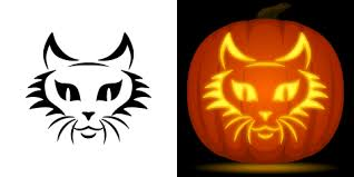 Walking Dead Pumpkin Stencils Free Printable by Cat Face Pumpkin Carving Stencil Free Pdf Pattern To Download And