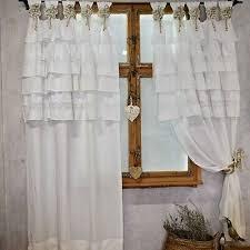romantische gardinen shabby gardinen mit rüschen