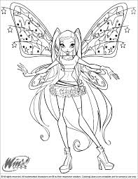 Best Solutions Of Winx Club Coloring Pages To Print Also Template