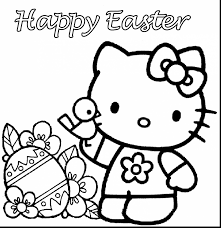 Superb Hello Kitty Easter Coloring Pages With Printable And
