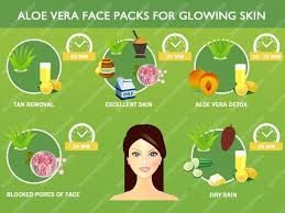 Aloe vera face packs for glowing skin how to use aloevera for