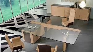 bureau direction verre bureau de direction en bois en verre contemporain de