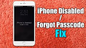 Iphone Disabled Forgot Passcode iPhone Fix Hard Reset for