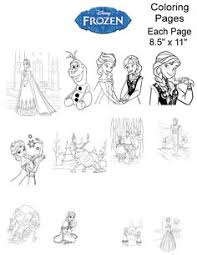 All The Disney Frozen Characters Coloring Pages 08