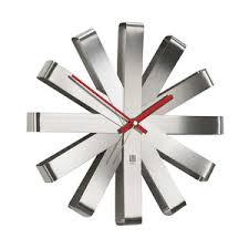 pendule moderne cuisine horloge murale métal verre ou bois