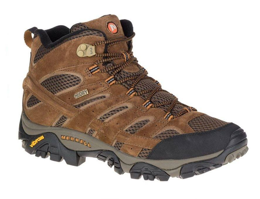 Merrell Men's Moab 2 Mid Waterproof Hiking Boots - Brown, 11 US