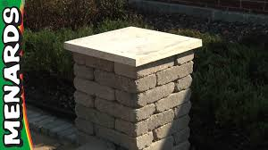 Patio Umbrella Base Menards by Concrete Block Columns How To Build Menards Youtube