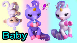 Baby Unicorn Horses Monkey Animal Fingerlings With Barbie