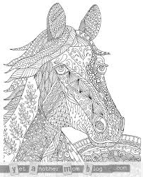 Zentangle Horse Coloring Page For Adults Plus Bonus Easy