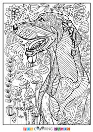 Free Printable Black And Tan Coonhound Coloring Page Shorty