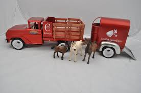Toy Trucks: Custom Toy Trucks John Deere 116th Scale Big Farm Truck With Cattle Trailer 1 64 Ford Louisville L9000 Grain Scratch Custom Toy Wyatts Toys Trailers Rockin H Trucks Tonka Classic Steel Stake Wwwkotulascom Free 1950s 2 Listings 1975 Chevy C65 Tag Axle And 20 Grain Body Snt Custom 0050 Blue Ih 4300 Pulling A Wilson Pup