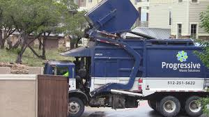 Progressive Front Loader Emptying The Dumpster...#garbagetrucks ...
