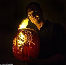Freddy Krueger Pumpkin by Alex Wer Carves Masterpieces Into Illuminated Pumpkins Daily